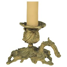 Bronze Candle Holder Lamp