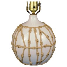 Porcelain Bamboo Detailed Table Lamp