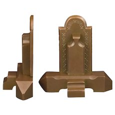Bronze Craftsman Book Ends