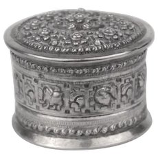 Highly Decorative Silver Toned Box
