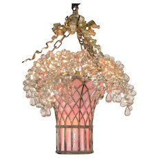 Glass Grape Basket Chandelier