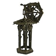 1920's American Cast Iron Garden Lantern