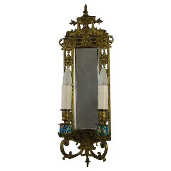 Pair, late 19th Century Bradley & Hubbard Brass Two Arm Sconces