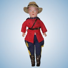"Vintage 17"" *Royal Canadian Mountie* by Reliable"