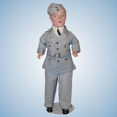 "Vintage 17"" * Canadian Air Force Doll * by Reliable"