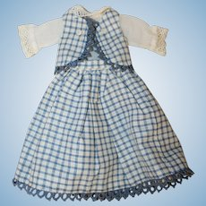 Wonderful Antique Style *3 Piece Dress* for China or Paper Mache doll