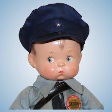 1940's *Skippy Policeman* by Effanbee
