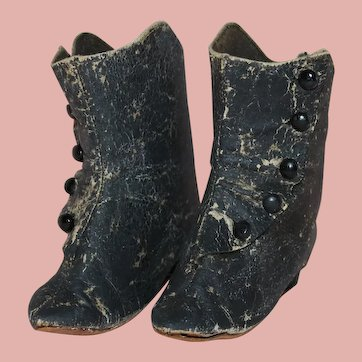 ~Antique High Top Leather Doll Shoes / Boots~