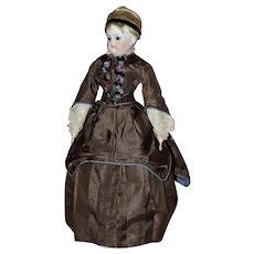 """Beautiful Pouty 17"""" Kestner ~ Turned Shoulder Head Doll"""