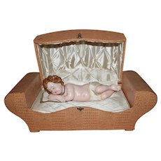 Beautiful Wax Baby Jesus ~ Automaton Music Box