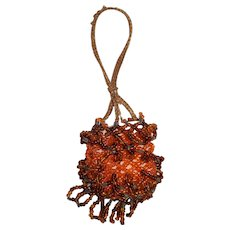 Vintage Apricot *Beaded Doll Purse* Fashion Accessory