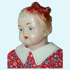 "Sweet 17"" *Sunny Doll w/ Molded Bow* by Trion circa 1915"