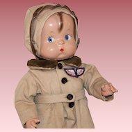 Wonderful 1929 **Skippy Aviator Doll** by Effanbee