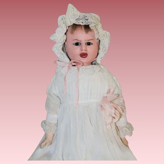 """15"""" Two Face *Fritz Bartenstein* Wax Over Doll"""