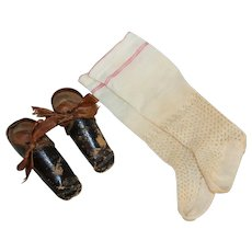 Wonderful *Antique Doll Shoes* for China or Parian