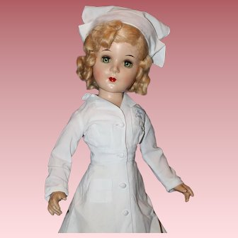 """Beautiful 20"""" *Miss Curity* 1940's Composition Doll"""