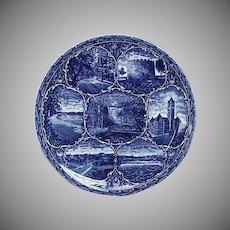 Blue & White Rowland & Marsellus Souvenir Plate Minneapolis Minnesota