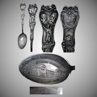 1905 Forestry Building Lewis & Clark Exposition Sterling Souvenir Spoon