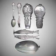 Figural Salmon Lewis & Clark 1905 Fair Souvenir Spoon