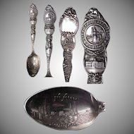 1910's Portland Oregon Sterling Souvenir Spoon