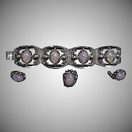Mexican Silver & Faux Opals 4 piece Set
