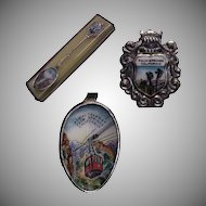 Enameled Palm Springs California Silverplate Souvenir Spoon