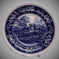 Spode Blue Tower Pattern Salad / Dessert Plate