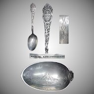 "1900's State of Oregon Sterling Souvenir 5 3/4"" Spoon"