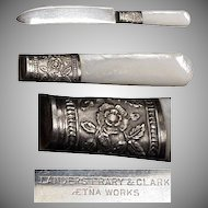(4) 1890's Mother Of Pearl Handled Fruit Knives
