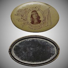 1912 Indian Maiden Pocket Mirror from Spokane Washington