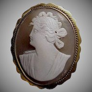 Exceptionally Beautiful & Carved 1880's - 1890's Victorian Shell Cameo