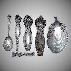"""Frontenac Pattern Sterling Silver  6 1/2"""" Preserve Spoon"""