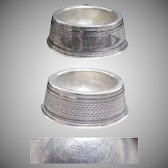 (4) Fine Coin Silver 1870's Individual Salt Cellars/ Salters (Salts)