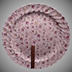 "15"" Spode Rosebud Chintz Large Serving Tray / Chop Plate"