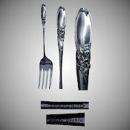 "(6) Community Plate White Orchid Pattern 6 & 1/2"" Salad/Dessert  Forks"