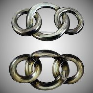 Sterling Silver Pin / Brooch with Circles Design