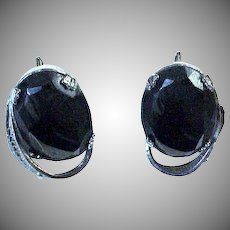 Sterling Silver & Hematite Earrings