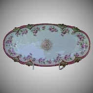 1890's Large Beautiful Celery Dish marked JDA France