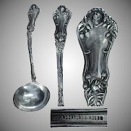 "Circa 1906 Rosemary Pattern Silverplated 7 1/8"" Gravy Ladle"