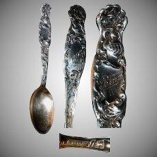 Whiting Heraldic Sterling Spoon
