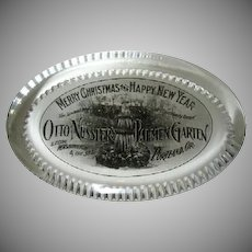 Early Sealed Portland Oregon Glass Paperweight