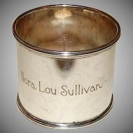 1930's - 1940's Sterling Lunt Napkin Ring