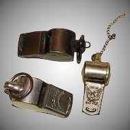 3 Antique Whistles
