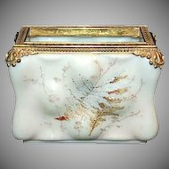 C F Monroe Signed Wavecrest Opal-ware Letter Holder in Egg Crate