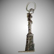 "Detailed "" Statue of Liberty "" Sterling Silver Charm for Charm Bracelet"