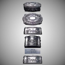 1890's - 1900's Beautiful & Rare Gorham Sterling Art Nouveau Jewelry Box / Casket