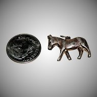 Sterling Donkey Charm for Charm Bracelet.