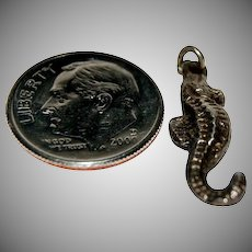 """Sterling Silver Charm For a Charm Bracelet of 3D """" Seahorse """""""