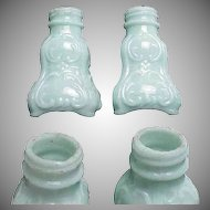 pair of Blue Glass Victorian Shakers
