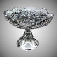 Petite 1890's Brilliant Period Cut-Glass Compote